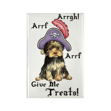 Yorkie Pirate Rectangle Magnet