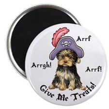 Yorkie Pirate Magnet