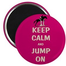 "Keep Calm and Jump On Horse 2.25"" Magnet (10 pack)"