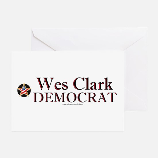 """Wes Clark Democrat"" Greeting Cards (Pk of 10)"