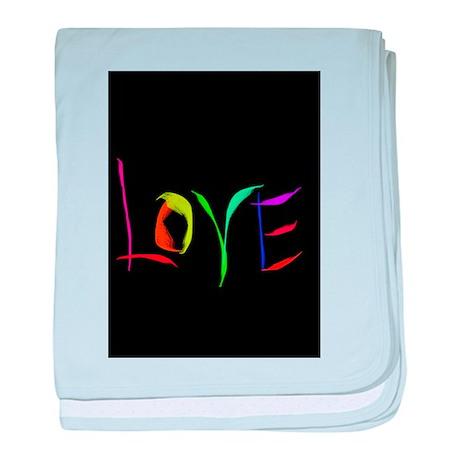 LOVE Valentine's Day LOVE baby blanket