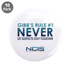 """Gibbs Rule #1 3.5"""" Button (10 pack)"""