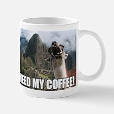 Bossy the Llama: I need my COFFEE Mug