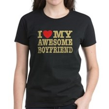 I Love My Awesome Boyfriend Tee