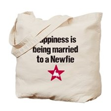 Happiness is being married to a Newfie Tote Bag