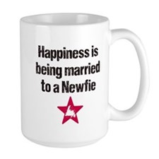 Happiness is being married to a Newfie Mug