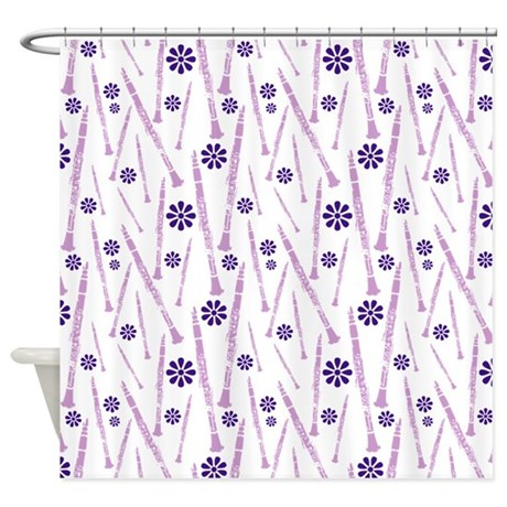Purple Clarinet Shower Curtain By Marchingstuff2