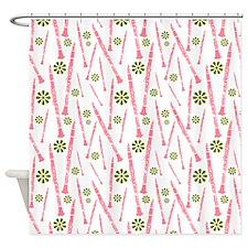 Pink Clarinet Shower Curtain