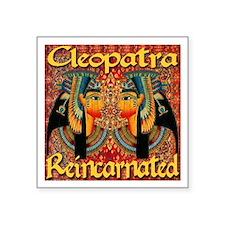 Cleopatra Reincarnated Persian Carpet Square Stick