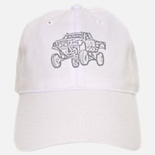Off-Road Race Truck Grey Baseball Baseball Cap