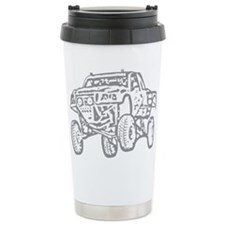 Off-Road Race Truck Grey Travel Mug