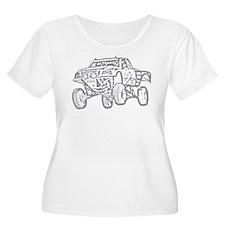 Off-Road Race Truck Grey T-Shirt