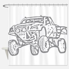 Off-Road Race Truck Grey Shower Curtain