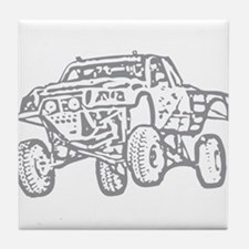 Off-Road Race Truck Grey Tile Coaster