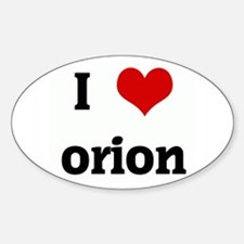 I Love orion Rectangle Decal