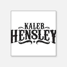 "Kaleb Hensley Logo Square Sticker 3"" x 3"""