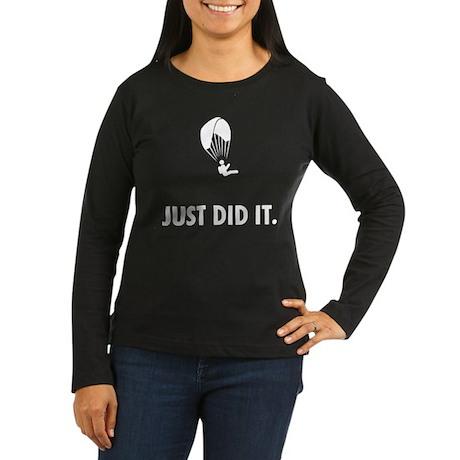Paragliding Women's Long Sleeve Dark T-Shirt