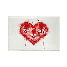 Valentines Death Rectangle Magnet