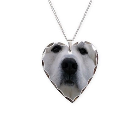 Great Pyrenees Necklace Heart Charm