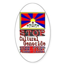 Stop Cultural Genocide - Oval Decal