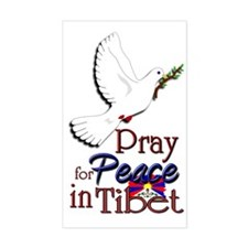 Pray for Peace in Tibet - Rectangle Decal