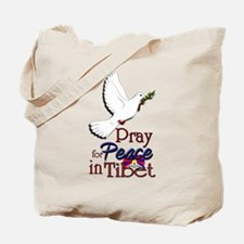 Pray for Peace in Tibet - Tote Bag
