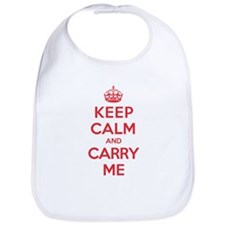 Keep Calm Carry Me Bib