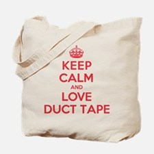 Keep Calm Love Duct Tape Tote Bag