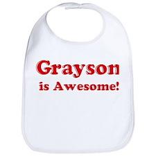 Grayson is Awesome Bib