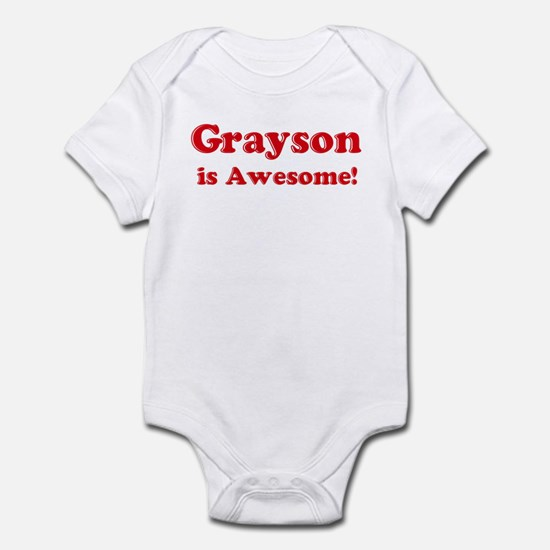 Grayson is Awesome Infant Bodysuit