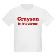 Grayson is Awesome Kids T-Shirt