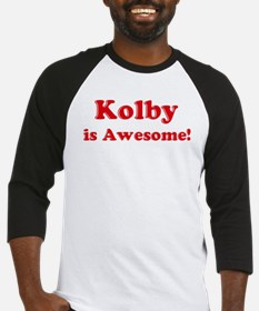 Kolby is Awesome Baseball Jersey