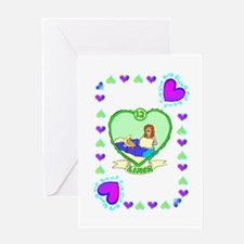 12th Wedding Anniversary, Linen Greeting Card