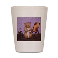 Artist Erica Woodhill Whiskers Shot Glass