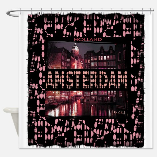 amsterdam holland art illustration tshirt Shower C