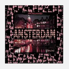 amsterdam holland art illustration tshirt Tile Coa