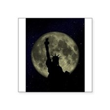 "Statue Of Liberty Square Sticker 3"" x 3"""