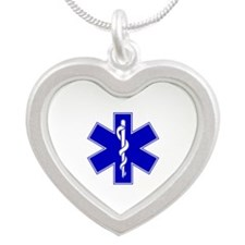 Throw Pillow Star of Life.png Silver Heart Necklac
