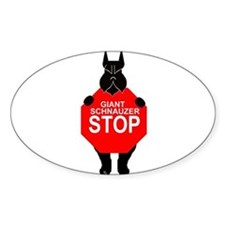 Decal giant schnauzer stop Decal