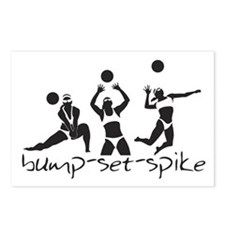 bump-set-spike Postcards (Package of 8)