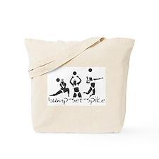 bump-set-spike Tote Bag