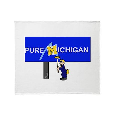 Michigan Throw Blanket