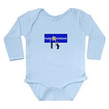Michigan Long Sleeve Infant Bodysuit