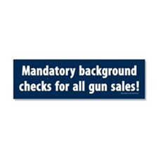Background checks Car Magnet 10 x 3
