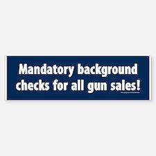 Background checks Bumper Sticker (10 pack)