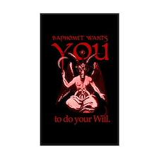 Baphomet Wants You Rectangle Decal