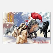 santa and his dogs Postcards (Package of 8)