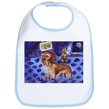 Wirehaired dachshund red Bib