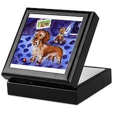 Wirehaired dachshund red Keepsake Box