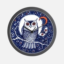 Owl by Liza Paizis Wall Clock
